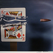 "SALE Harold Edgerton Photograph ""Bullet Through King, 1964"" MIT"