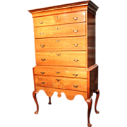 SOLD 18th c Connecticut Queen Anne Highboy Emily Post Estate