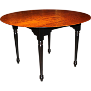 Jason Samuel Bench Made Bird's-eye Maple Round Dining Table