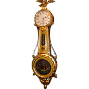 SOLD Girandole Clock by Foster Campos with Abrams Eglomise Painted Glass