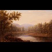 Erik Koeppel Landscape Oil Painting Mt. Washington on the Saco NH