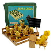 SOLD Shackman NY Teddy Bear School Game with Original Box 1950's