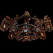 Vintage Gothic Revival Iron Chandelier