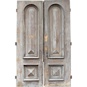 SOLD Pair of Monumental 19th Century Paneled Doors
