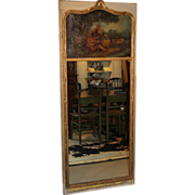 SALE 19th c French Gilt Trumeau Mirror