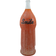 Smile Orange Soda Advertising Store Display One Gallon Bottle 1920's