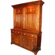 Exceptional and Large Two-Part Walnut Pennsylvania Cupboard, circa 1780