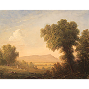 Lauren Sansaricq Oil Painting Pastoral Scene of Mount Monadnock NH
