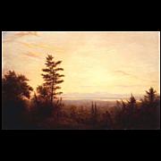 Erik Koeppel Oil Painting View over Lake Winnipesaukee NH
