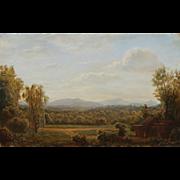 Lauren Sansaricq Oil Painting Pastoral Scene in the White Mountains NH