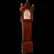 John Wood, Grantham, England Late 18th Century Mahogany Tall Case Clock