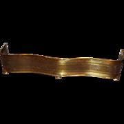 19th / 20th c Brass Pierced Serpentine Fire Fender