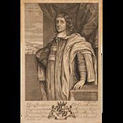 "SALE Rare 1657 Print of Cæcilius Calvert ""The Lord Baltimore,"" by Blotling"