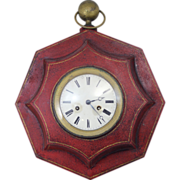 SOLD 19th c French Tole Octagonal Wall Clock