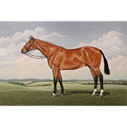 SOLD Newton T. Mayo Pastel Painting of a Horse