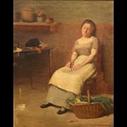 Jean Mannheim Interior Oil Painting - Woman in Kitchen