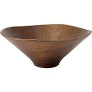 20th c Rude Osolnik Walnut Turned Bowl