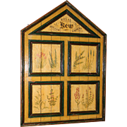 Large Painted Wooden Victorian Style Botanical Panel