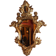 SOLD 18th c Italian Carved Giltwood Baroque Mirror