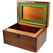 SOLD Alfred Dunhill of London Mahogany Gentlemen's Cigar Humidor with Copper & Felt Interior
