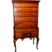 18th c Connecticut Cherry Two Part Highboy