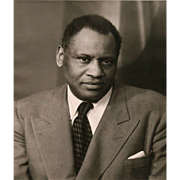 "Johanna Alexandra ""Lotte"" Jacobi Photograph of Paul Robeson 1952"