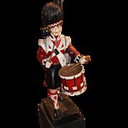 Carved Wooden Scottish Highlander Drummer Boy
