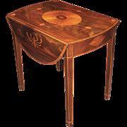 Baker Furniture Inlaid Pembroke Table