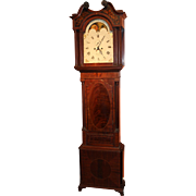 W. Parr Liverpool Early 19th c Tall Case Clock with Moon Phase Dial
