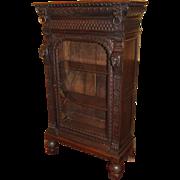 Late 19th c Oak Renaissance Revival Bookcase
