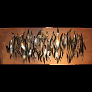 Homer Gunn Mid Century Modern Abstract Mounted Metal Wall Sculpture