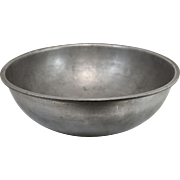 English Pewter Basin circa 1825