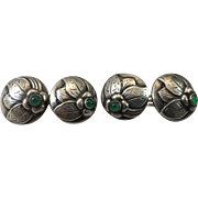Early 20th c 830 Silver Cufflinks by Georg Jensen