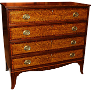 Federal Period Chest with Flame Birch Drawer Fronts, Probably Portsmouth, NH