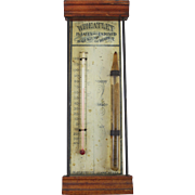 Franklin Mills Co Lockport NY Wheatlet Advertising Thermometer / Barometer circa 1890