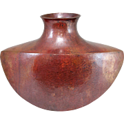 Margarito Garcia Hand Hammered Patinated Copper Vase from Mexico