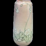 Vellum Glaze Rookwood #2060 Vase with Floral Decoration Artist Signed 1917