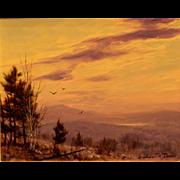 William R. Davis Landscape Oil Painting - Twilight White Mountains NH