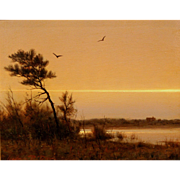 William R. Davis Landscape Oil Painting - Twilight on the Marsh