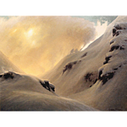Joseph McGurl Mountainscape Oil Painting - The Snowmakers
