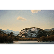 Joseph McGurl Oil Painting - Warm Winter Sun, Mt. Washington Valley NH