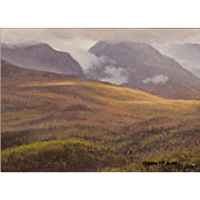 Joseph McGurl Plein Air Oil Painting - The White Mountains NH