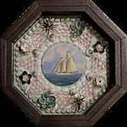 William R. & Judy Davis Sailor's Valentine with Schooner