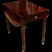 Sheraton Mahogany Pembroke Table. New York, Duncan Phyfe c 1810