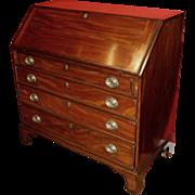 American Federal Mahogany Slant Front Desk, circa 1800