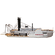 """Large Wooden Model of Mississippi Steamboat """"Robert E. Lee"""" by Peter Nadrowski"""