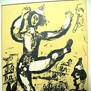 Marc CHAGALL 1960 Original Color Lithograph Print Le CIRQUE FABULOUS!