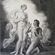 Antique LISTED French NUDE Print Engraving PYGMALION Galatea Signed 19th C Century EXQUISITE!