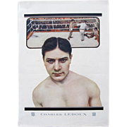 Vintage Art DECO 20s Large French Print BOXER Champion LEDOUX Gift Man FUN PIECE!