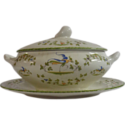 SOLD French Vintage Moustier Soup Tureen